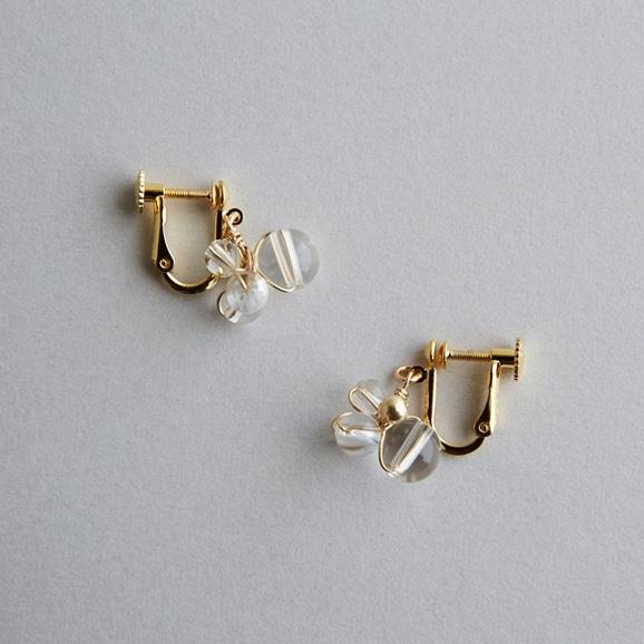 【写真】asumi bijoux asatsuyu mini earring crystal