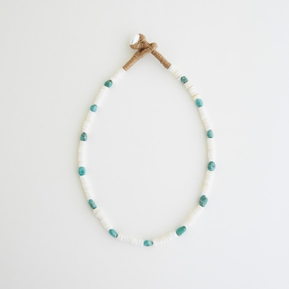 【写真】sai Necklace Shell & Turquoise