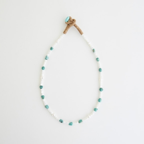 【写真】sai Necklace Shell,Turquoise & Pearl