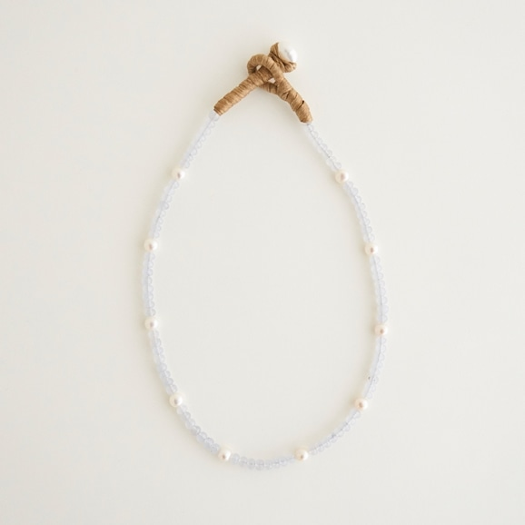 【写真】sai Necklace Blue Chalcedony & Pearl