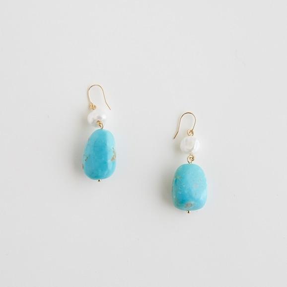 【写真】sai Pierce Kingman Turquoise & Pearl