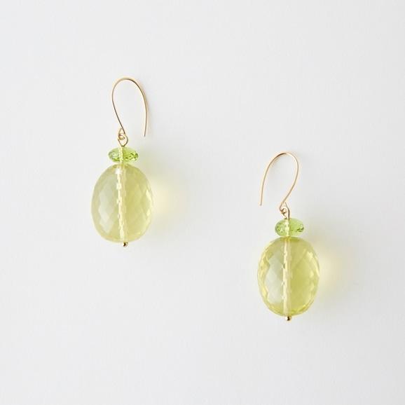 【写真】sai Pierce Lemon Quartz & Peridot