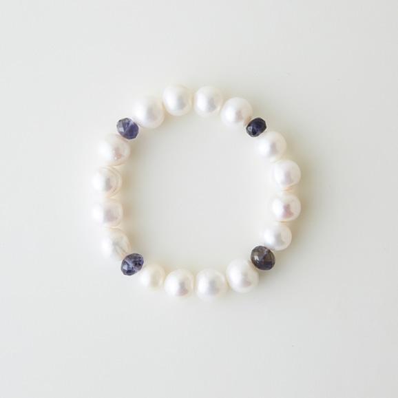 【写真】sai Bracelet Iolite & Pearl