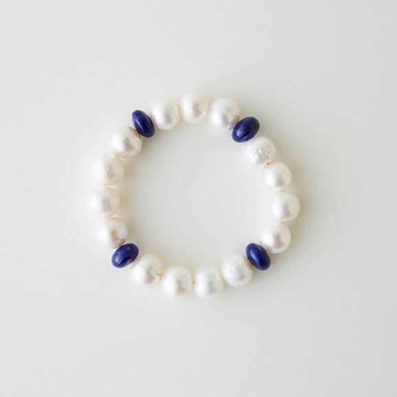 【写真】sai Bracelet Lapis Lazuli & Pearl