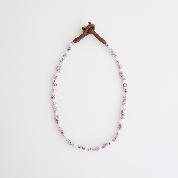 【写真】sai Necklace Purple Shell & Pearl