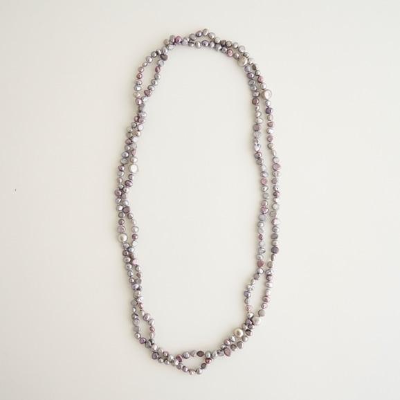 【写真】sai Long Necklace Gray Pearl