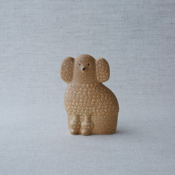 【写真】【定番品】Lisa Larson Poodle Brown Mini Right