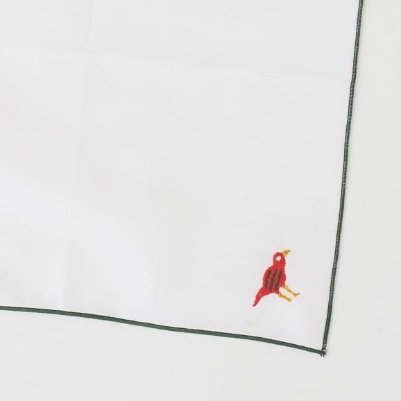 【写真】POOL Everyday ハンカチ コトリ ホワイト