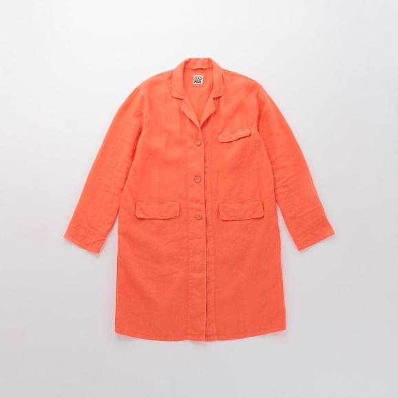 【写真】【Archive】POOL いろいろの服 アトリエコート コーラルオレンジ