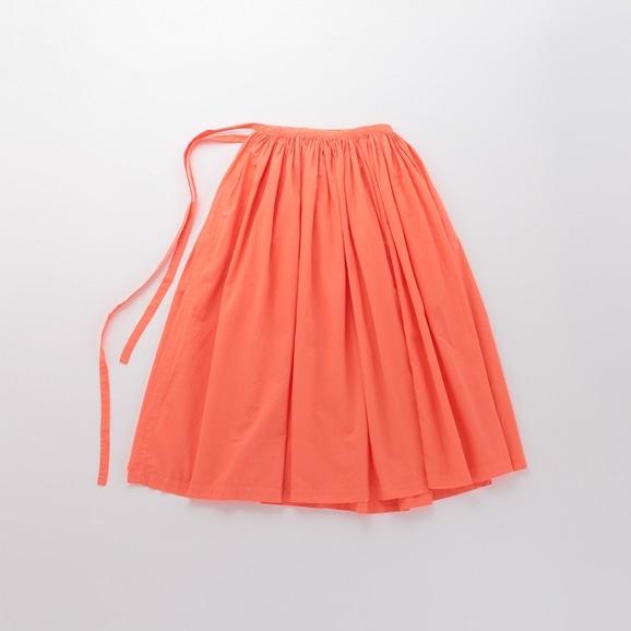 【写真】【Archive】POOL いろいろの服 巻きギャザーエプロン コーラルオレンジ