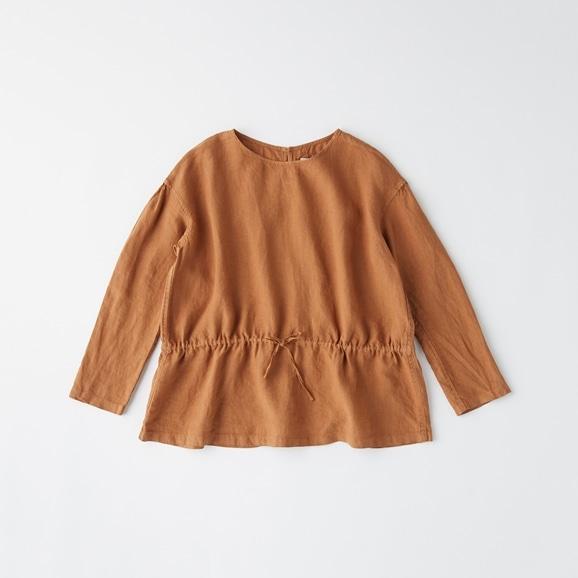 【写真】POOL いろいろの服 ギャザーブラウス ブラウン