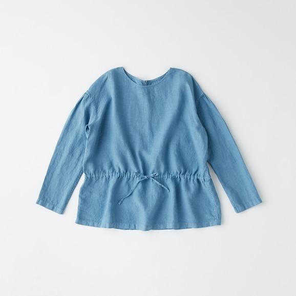 【写真】POOL いろいろの服 ギャザーブラウス ブルーグレー