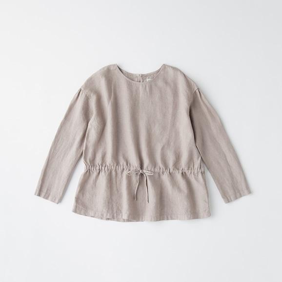 【写真】POOL いろいろの服 ギャザーブラウス ミディアムグレー