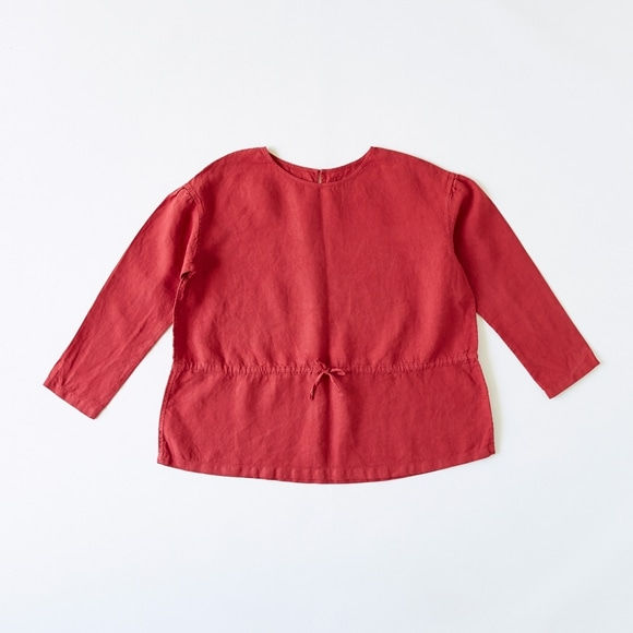 【写真】【Archive】POOL いろいろの服 ギャザーブラウス レッド