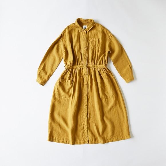 【写真】【Archive】POOL いろいろの服 アトリエシャツワンピース マスタード