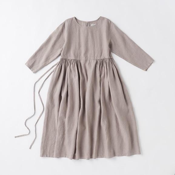 【写真】POOL いろいろの服 ギャザーワンピース ミディアムグレー
