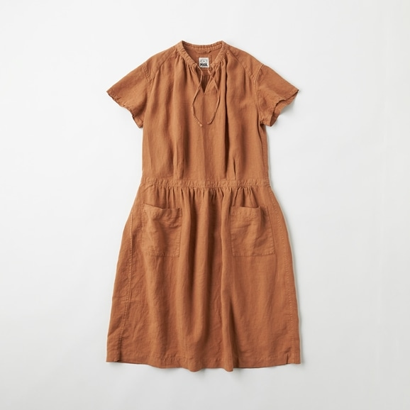 【写真】POOL いろいろの服 プチスリーブワンピース ブラウン