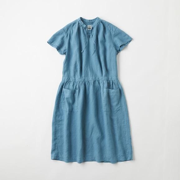 【写真】POOL いろいろの服 プチスリーブワンピース ブルーグレー