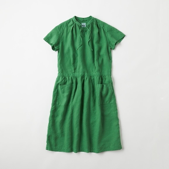 【写真】【Archive】POOL いろいろの服 プチスリーブワンピース グラスグリーン