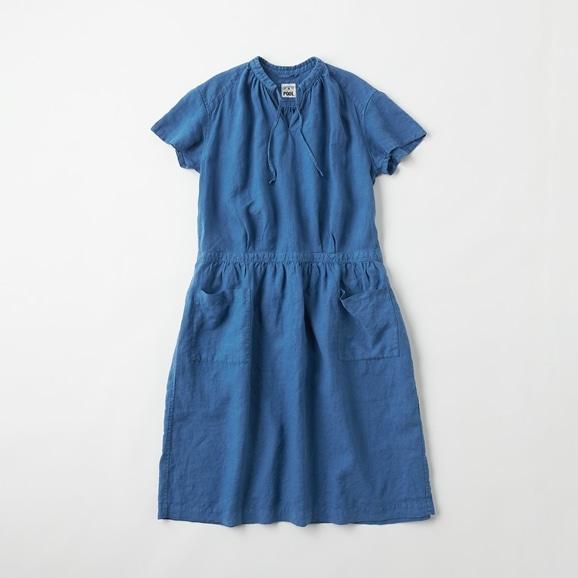 【写真】【Archive】POOL いろいろの服 プチスリーブワンピース インディゴブルー