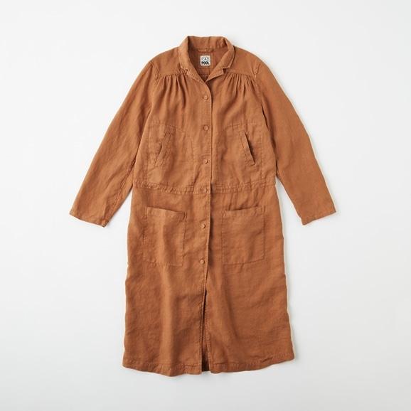 【写真】POOL いろいろの服 ワークコート  ブラウン