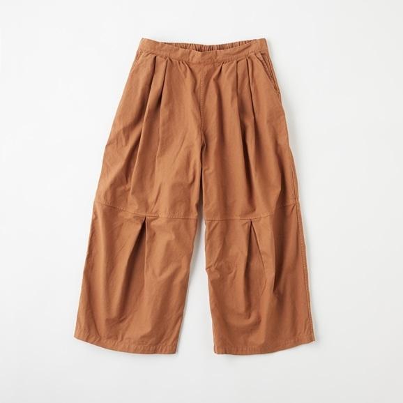【写真】POOL いろいろの服 ニータックワイドパンツ ブラウン