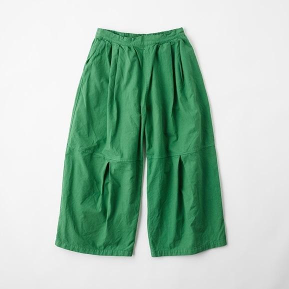 【写真】POOL いろいろの服 ニータックワイドパンツ グラスグリーン