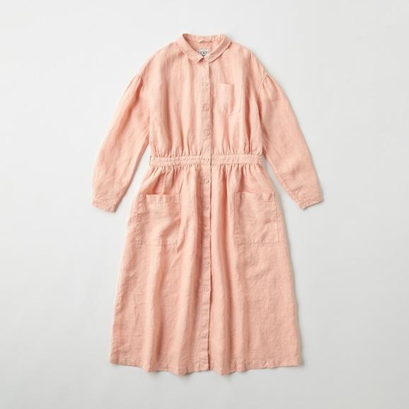 【写真】POOL いろいろの服 アトリエシャツワンピース  ピンクベージュ
