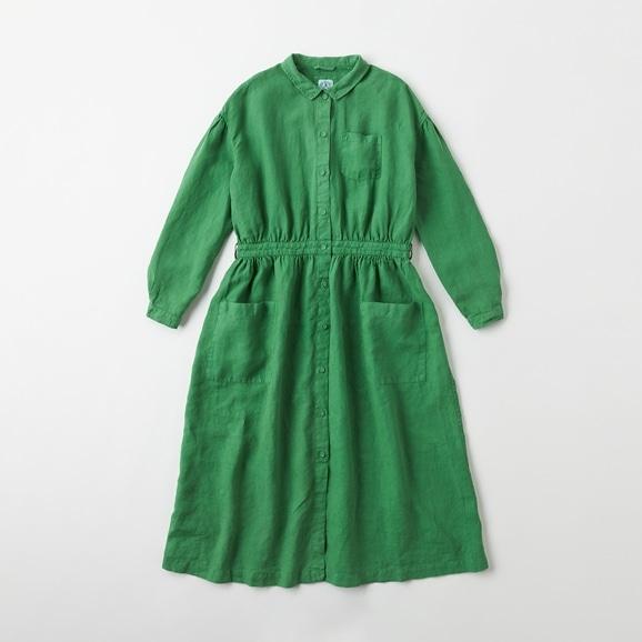 【写真】【Archive】POOL いろいろの服 アトリエシャツワンピース  グラスグリーン