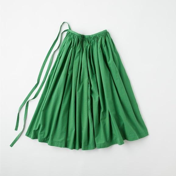 【写真】POOL いろいろの服 巻きギャザーエプロン  グラスグリーン