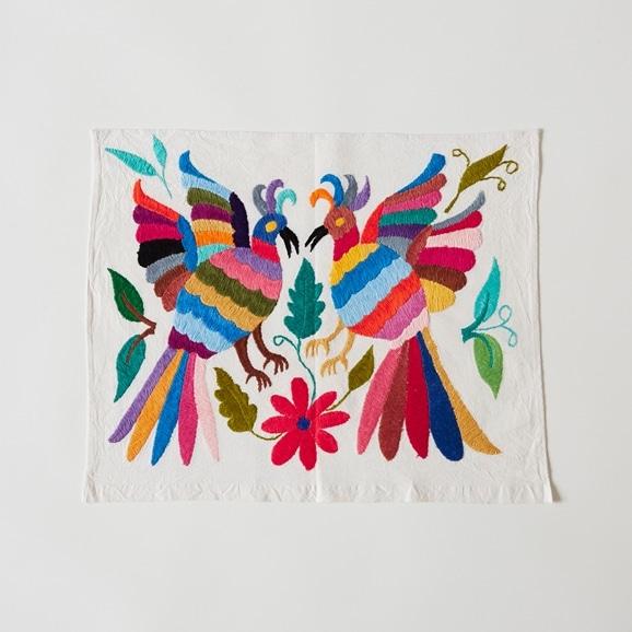 【写真】【一点物】オトミ刺繍 タペストリー S38