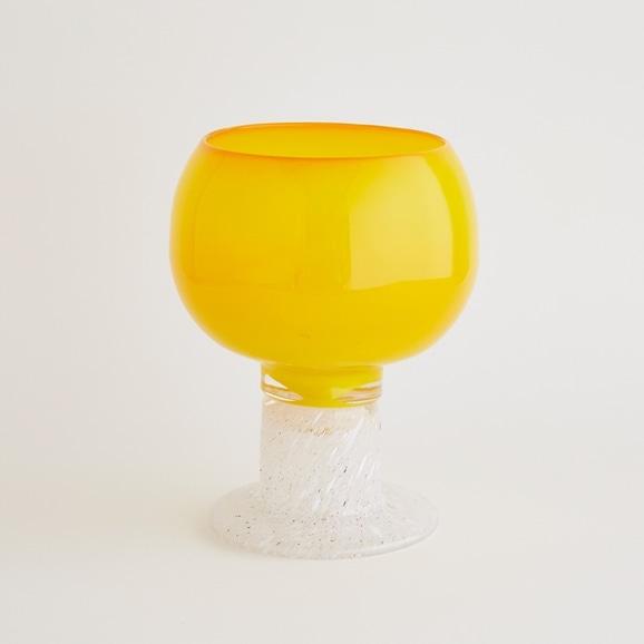 【写真】【一点物】kaj Franck Polaali Flower Vase Yellow/フィンランド買付品