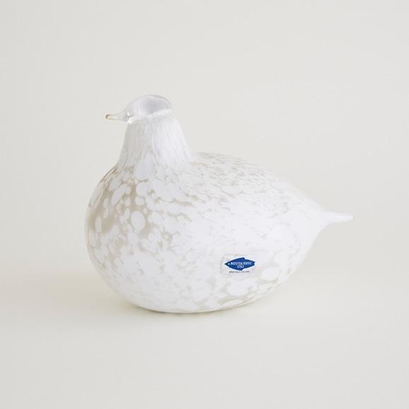 【写真】【一点物】Oiva Toikka Bird Little Turn White/フィンランド買付品