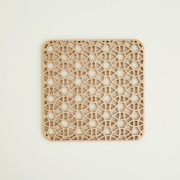 【写真】木製コースター square tambourine