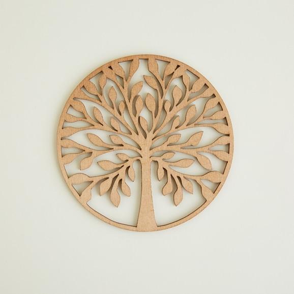 【写真】木製コースター tree