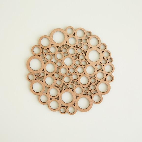 【写真】木製コースター bubble