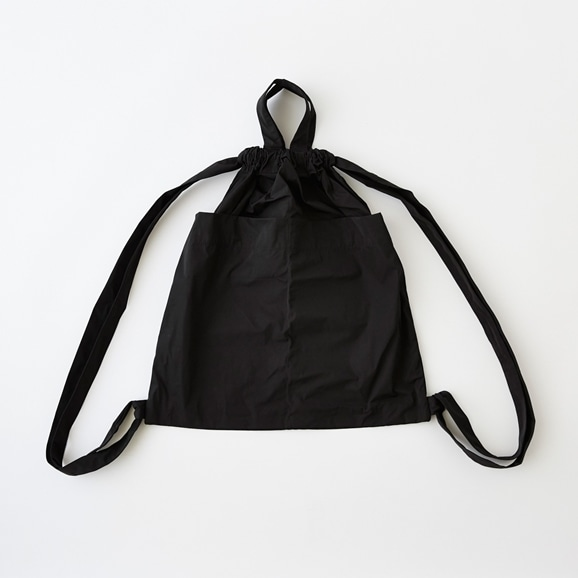 【写真】Drawstring Backpack ブラック