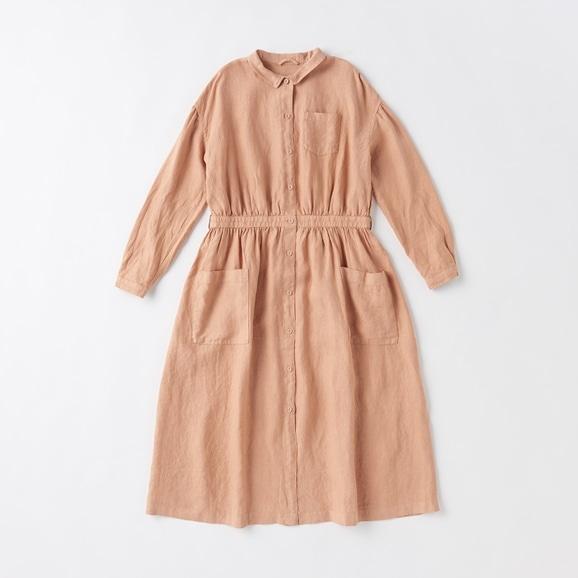 【写真】POOL いろいろの服 アトリエシャツワンピース シナモンピンク