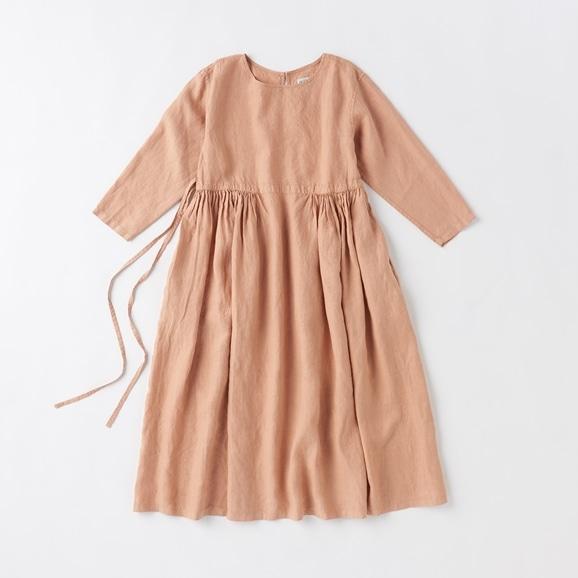 【写真】POOL いろいろの服 ギャザーワンピース シナモンピンク