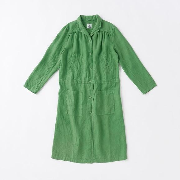 【写真】POOL いろいろの服 ワークコート  ピーグリーン