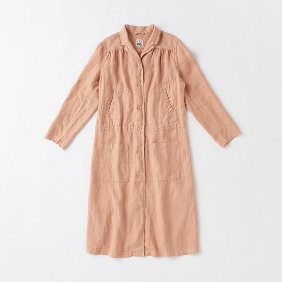 【写真】POOL いろいろの服 ワークコート  シナモンピンク
