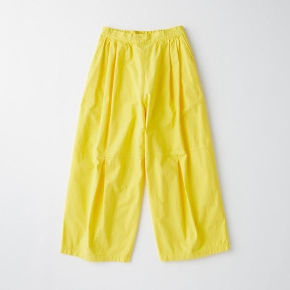 【写真】POOL いろいろの服 ニータックワイドパンツ カナリーイエロー