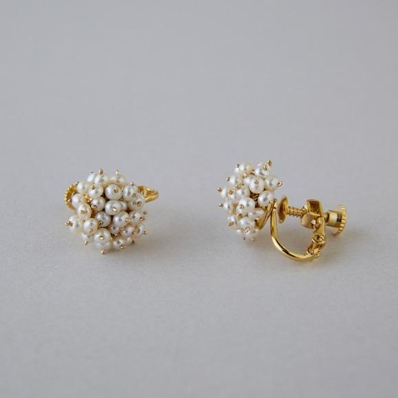 【写真】asumi bijoux shirotsumekusa bouquet mini earring