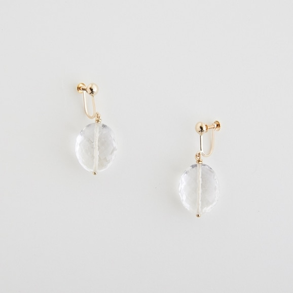 【写真】sai Earring Crystal Quartz