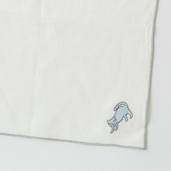 【写真】POOL Everyday ハンカチ コネコ ライトブルー