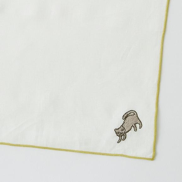 【写真】POOL Everyday ハンカチ コネコ グレー