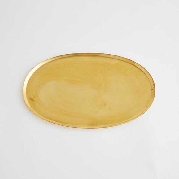 【写真】真鍮ソートトレー オーバル L