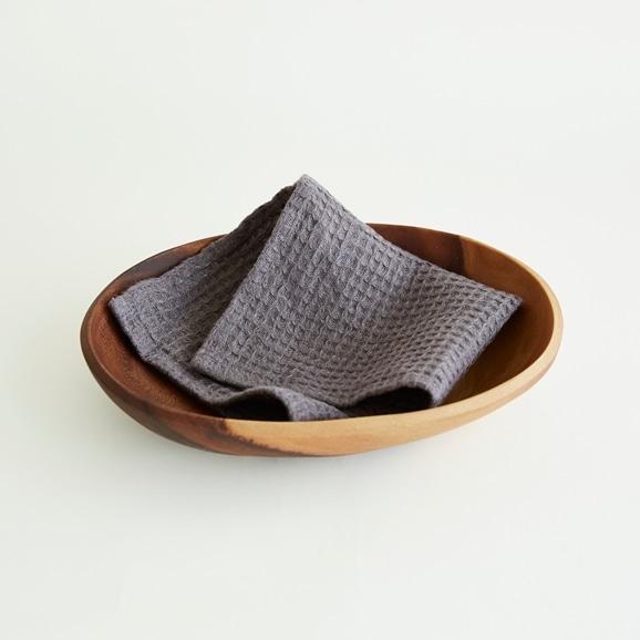 【写真】50★linoo ビッグワッフル キッチンクロス シャドーグレー