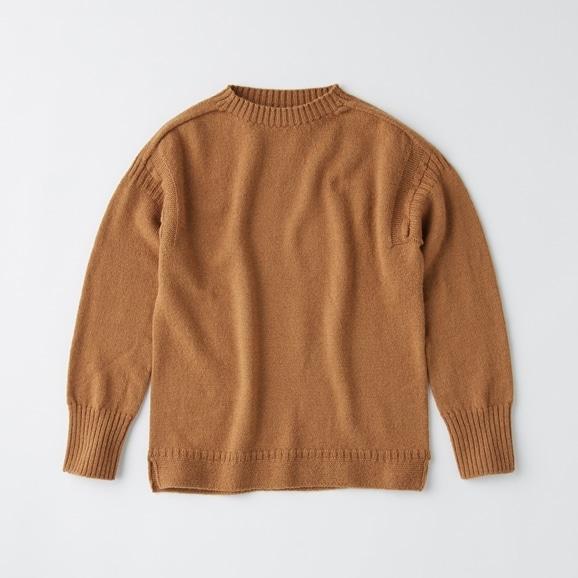 【写真】POOL いろいろの服 ノルマンディセーター ブラウン