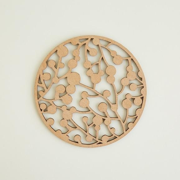 【写真】木製コースター cranberry